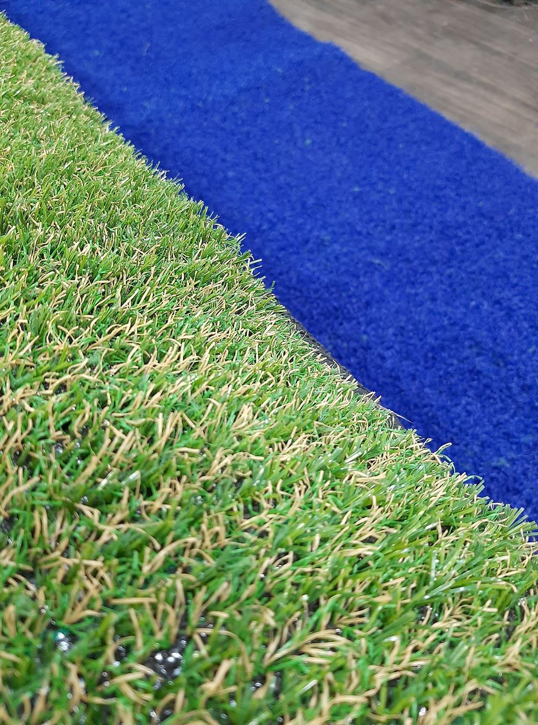 Gazon synthétique bleu 78