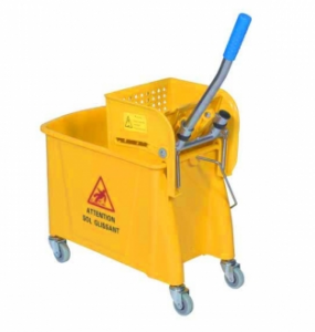 Chariot presse double mop