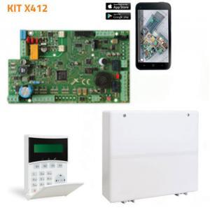 Kit 522: Centrale X412+ clavier KLCD light plus
