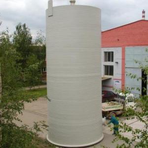 Cuve cylindrique en plastique à ciel ouvert
