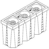 cuve carrée en plastique