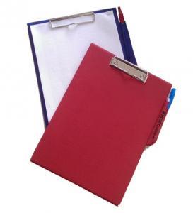 Porte-documents simple à clip avec porte stylo
