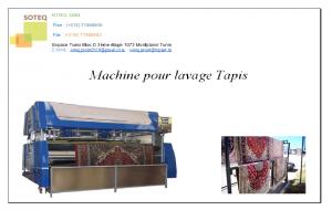 Machine pour lavage et séchage tapis