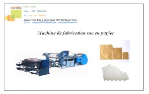 Machine de fabrication sac en papier
