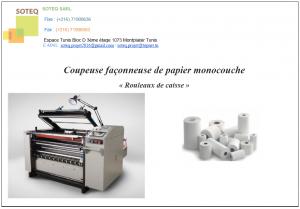Coupeuse Faconneuse de Papier Monocouche