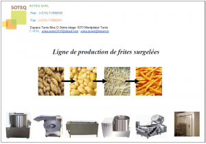 Ligne de Production de Frites Surgel�es
