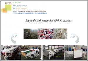 Ligne de Traitement des Dechets Textiles