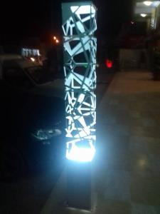 Luminaire en tôle découpée laser