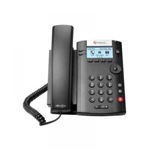 Polycom VVX 201 2-line desktop phone with HD voice for business- téléphonie