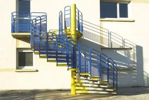 Escalier de secours, Escalier escargot, escalier hélicoïdal, Escalier d'évacuation