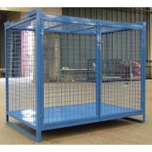 Cage sécurisée, Caisse de stockage métallique, Conteneur grillagé