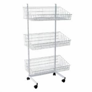 Présentoir en métal ou en aluminium, gondole pour magasin