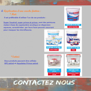 Application d'une couche finition