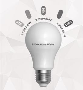 LED A60 3 STEP ON/OFF AUTO DIMMABLE   E27 9W