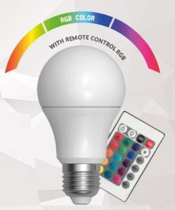 A60 LED RGB REMOTE CONTROL  E27 220V  4W