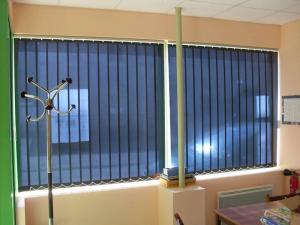 Rideau vertical en fibre de verre