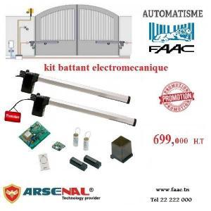 Kit automatisme pour  portail Battant