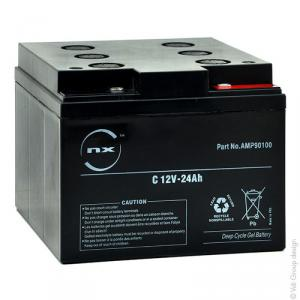 Batterie plomb etanche gel C 12V-24Ah 12V 24Ah F-M5