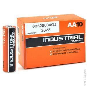 Pile alcaline Duracell Industrial LR6 - AA boite de 10 1.5V 2.7Ah