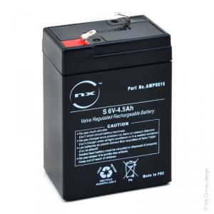 Batterie plomb AGM S 6V-4.5Ah 6V 4.5Ah T1