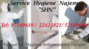 Service Hygiène 3D de traitement cafards