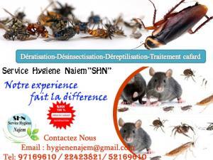 Société Hygiène 3 D de traitement cafards en Tunisie