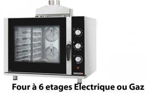 Four à 6 étage électrique ou gaz