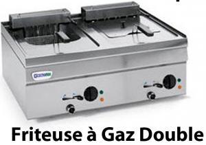 Friteuse à gaz double