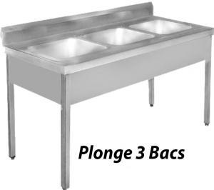 Plonge 3 bacs