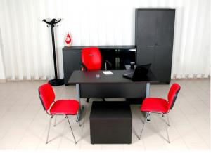 Meuble de bureau bureau wenge tunisie for Meuble bureau wenge