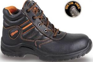 chaussure montante type brodequin en cuir plein fleur pigmenté hydrofugé