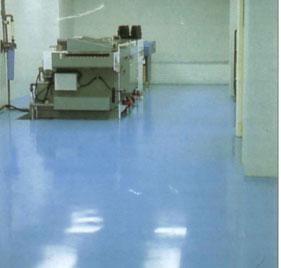 Revêtements de sols industriels  électriques, électroniques et de l'électroménager : Autolissant anti-acide