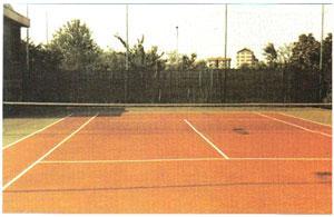 Revêtement résilient court de tennis