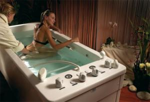 Baignoire pour douche sous-marine