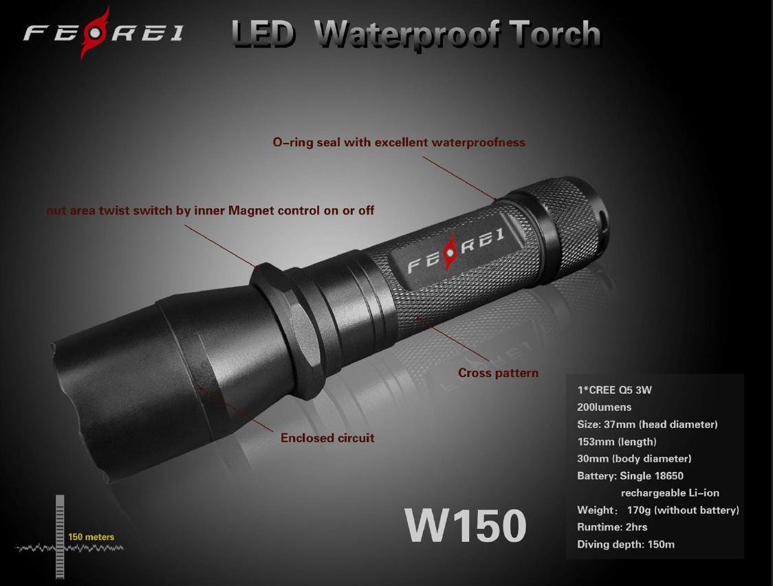 Lampe torche :W150 3W UNDERWATER