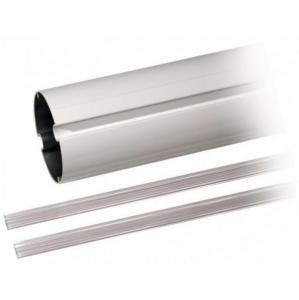 Lisse elliptique en aluminium blanc laqué