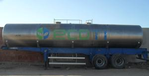 Citerne en inox sur camion pour produit chimique