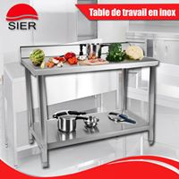 FABRICATION SIER: TABLE INOX