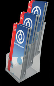 Porte-brochures inject� et en plexi