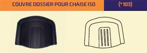 Couvre dossier pour chaise ISO