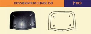 Dossier pour chaise ISO