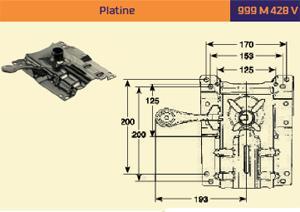 Platine 999 M 428 V