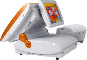 Terminal tactile  intégré avec système  double écran
