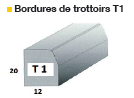 Bordure de trottoir T1