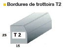 Bordure de trottoir T2