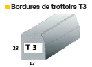 Bordure de trottoir T3
