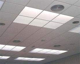 plafond démontable en plâtre