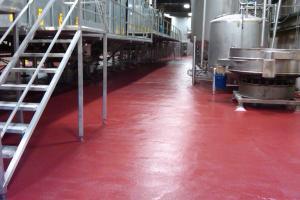 Revêtements de sol en résine industriel