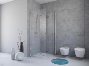 Cabine de douche entrée libre