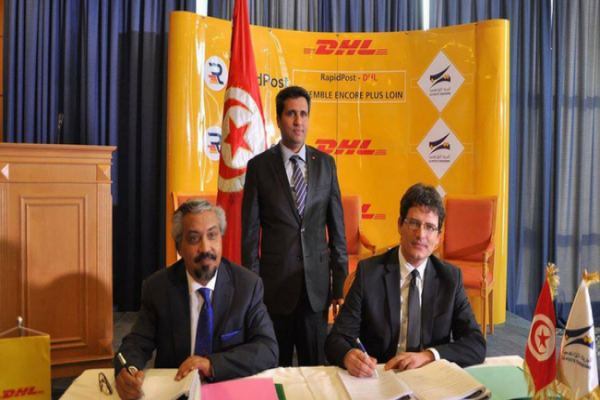 Convention de partenariat entre la poste tunisienne et DHL International